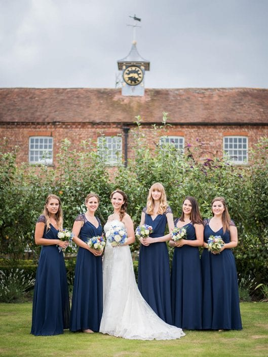 Bride and bridesmaids at a wedding venue in Kent
