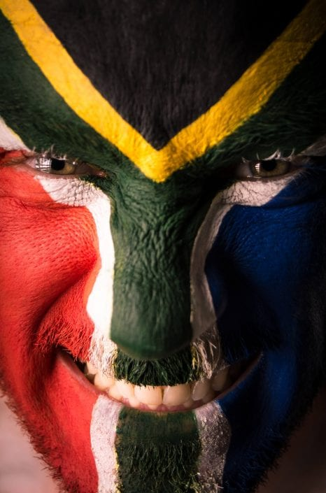 Alternative - South African flag face paint