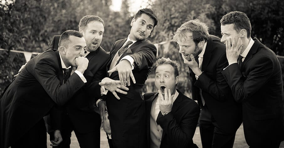Wedding - Groomsmen being silly