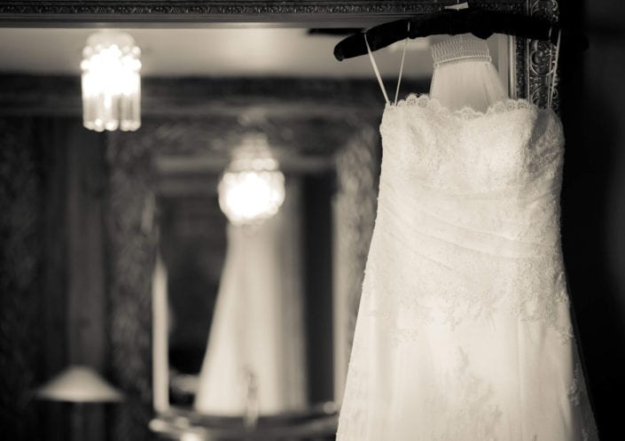 Wedding photography - Dress on hanger