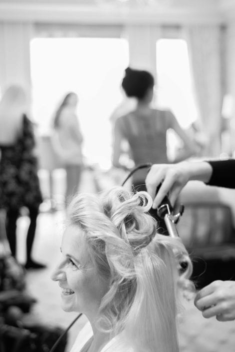 Bridal hair prep