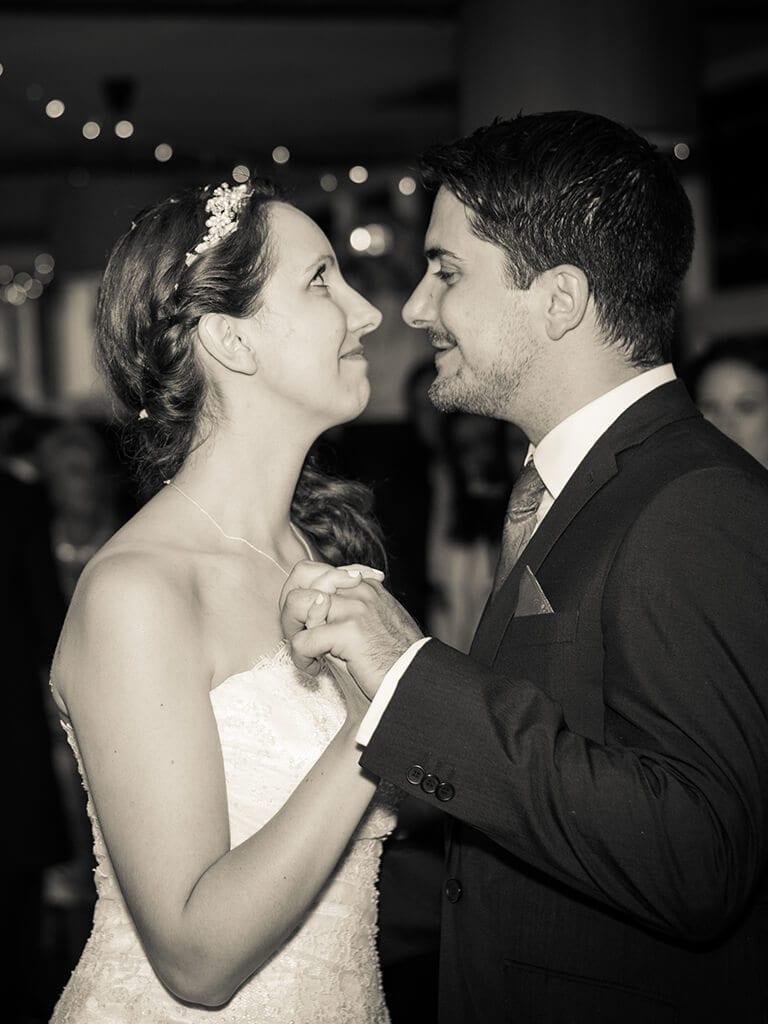 Emotional first dance at a wedding