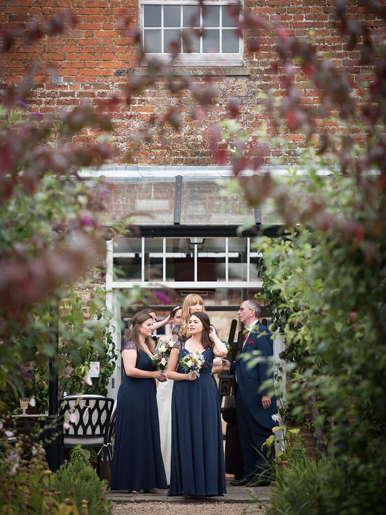 Bridesmaids from a wedding we shot recently at the secret garden in Kent.