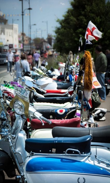 Event Photography Scooter Rally line up