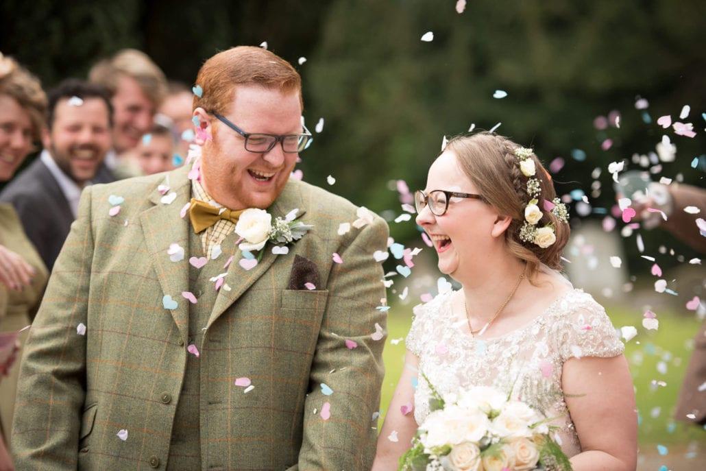 Wedding - Confetti laughing