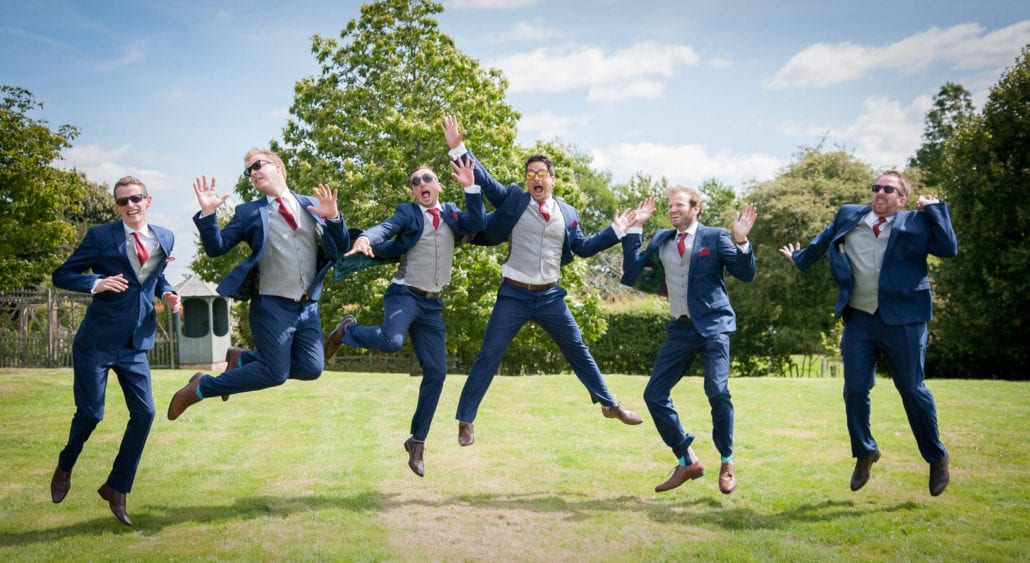 Wedding photography - Groomsmen jump