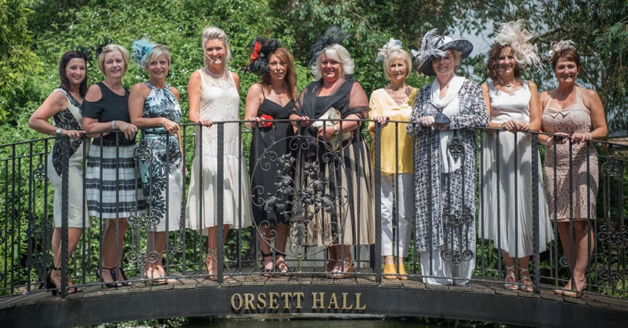 Ascot with a twist for cancer resaerch