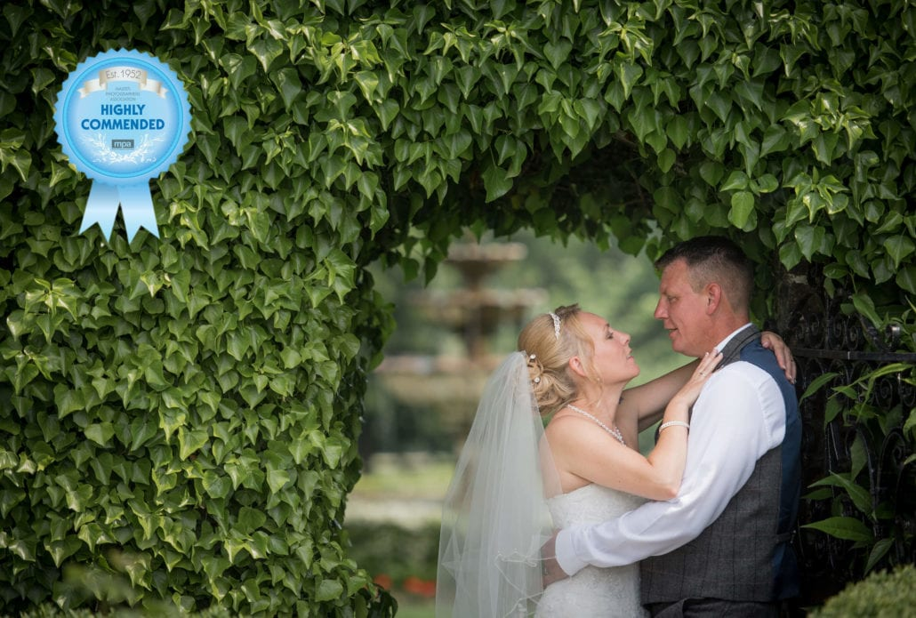 Bride & Grrom in ivy