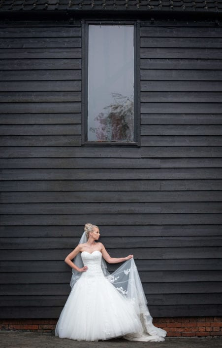 Bridal portrait under window