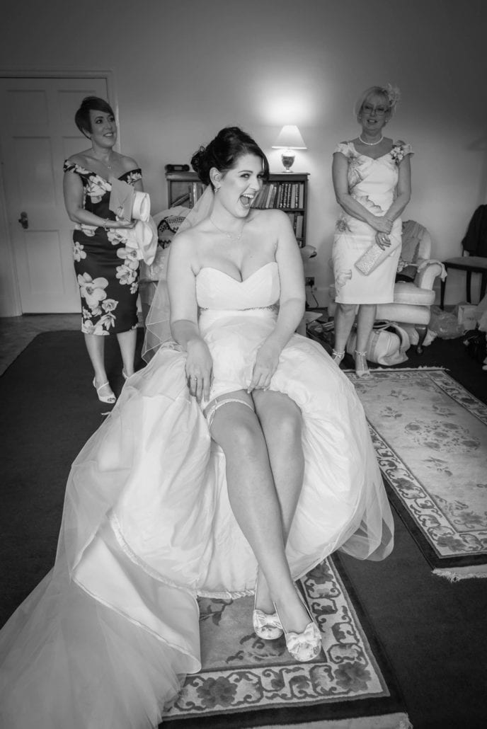 Bride being cheeky