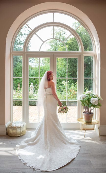 Bridal portrait in lovely doorway